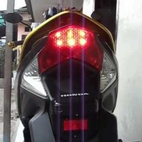 Bikin sendiri rangkaian lampu LED untuk lampu rem motor?