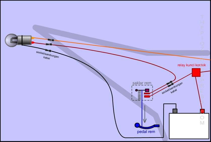 Bikin Sendiri Rangkaian Lampu Led Untuk Lampu Rem Motor 3