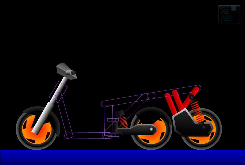 Konsep Motor Skuter Dengan Tiga Roda Segaris Nyaman Banget Nih Buat
