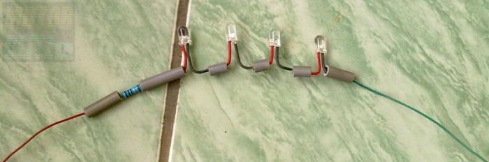 motorblitz rangkaian 4 led jadi+kabel
