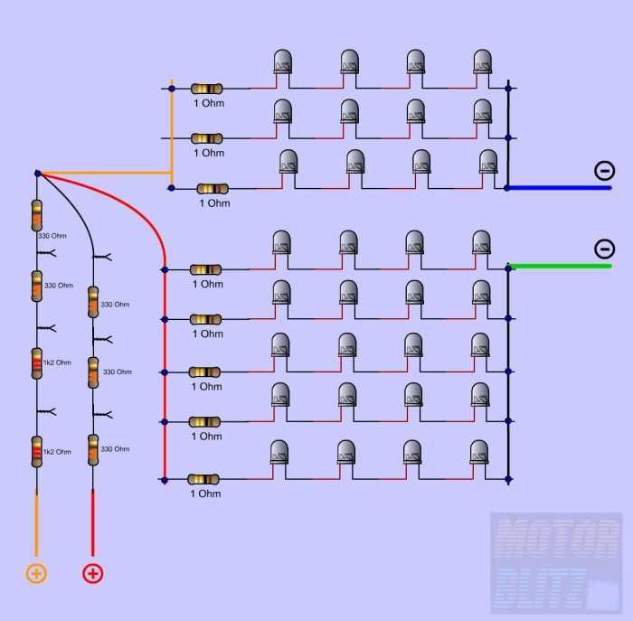 7rangkaian 4led + tahanan lampu rem-senja nyatu