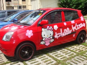 car mobil piccanto Hello Kitty