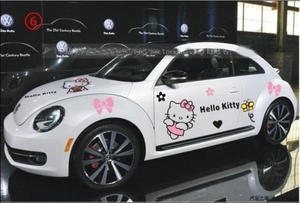 car mobil  vw kodok Hello Kitty