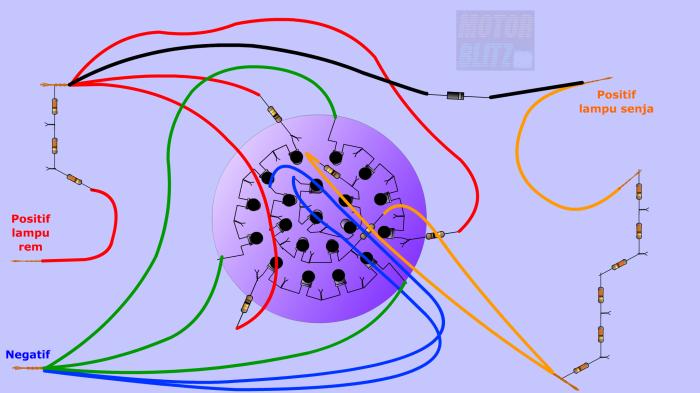 skema led lingkaran satria fu 2