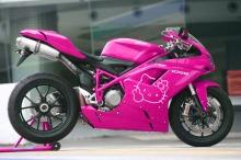 Pasang Stiker Hello Kitty Motorblitz