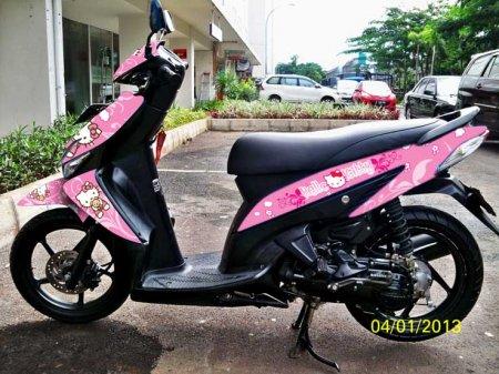 Modifikasi Yamaha Mio Ala Cewek Indo Motor