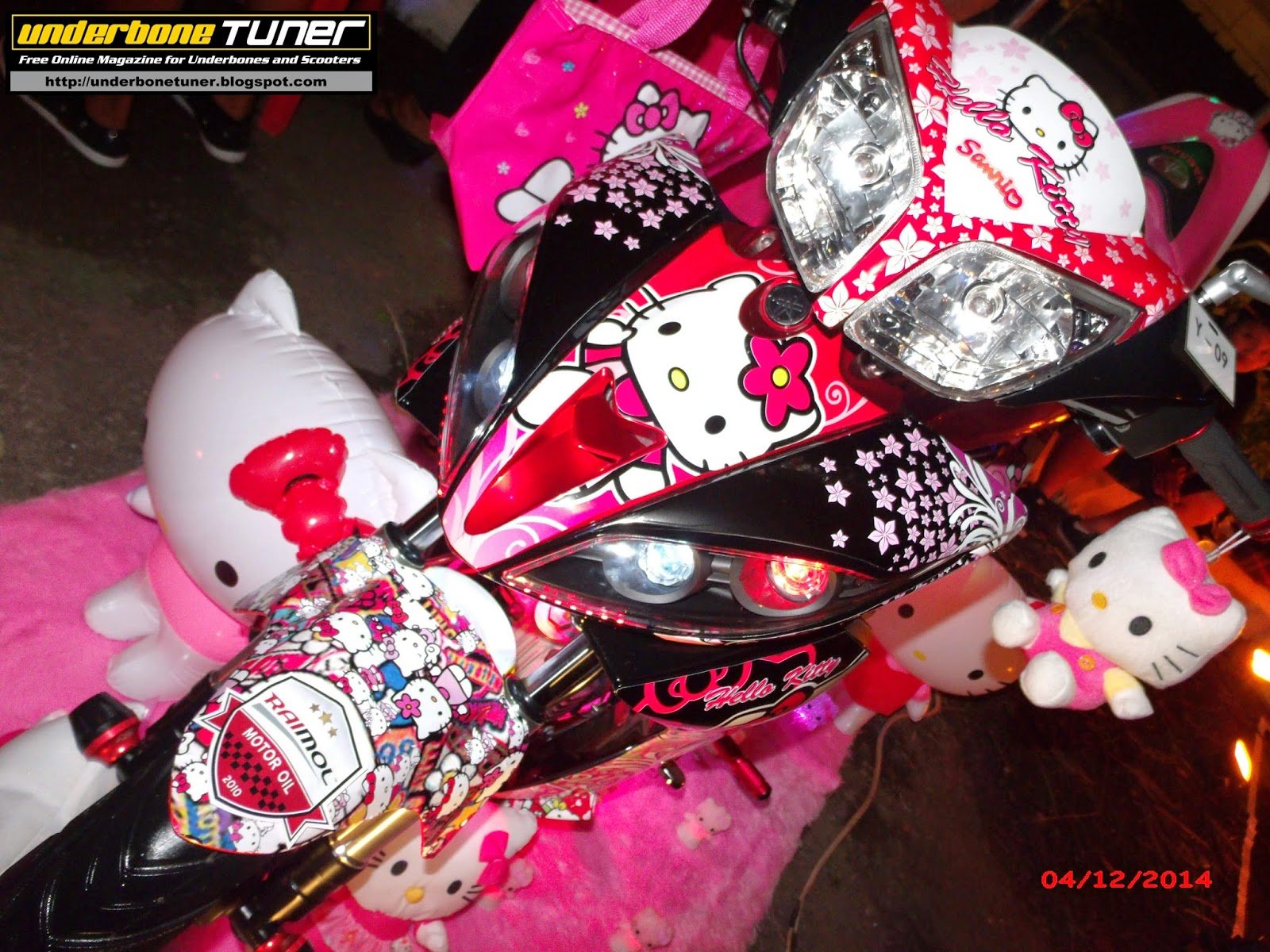 Modif Skotlet Hello Kitty Bikin Motor Tambah Pretty