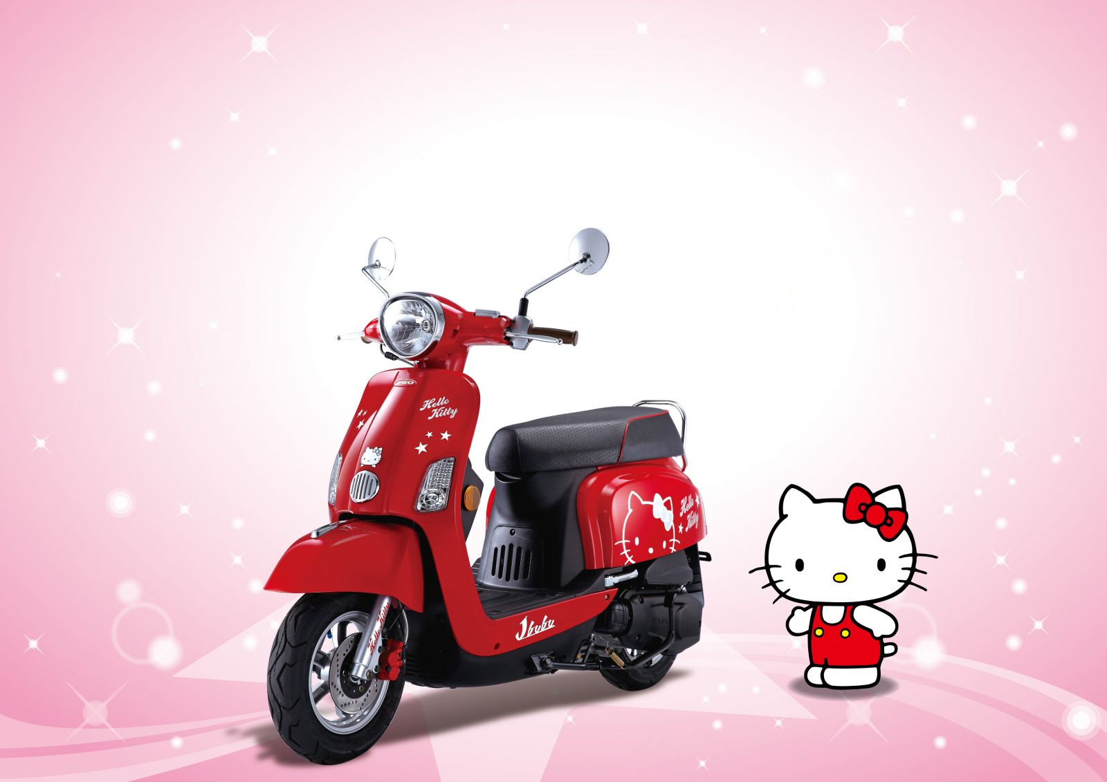 Modif Skotlet Hello Kitty Bikin Motor Tambah Pretty MOTORBLITZ