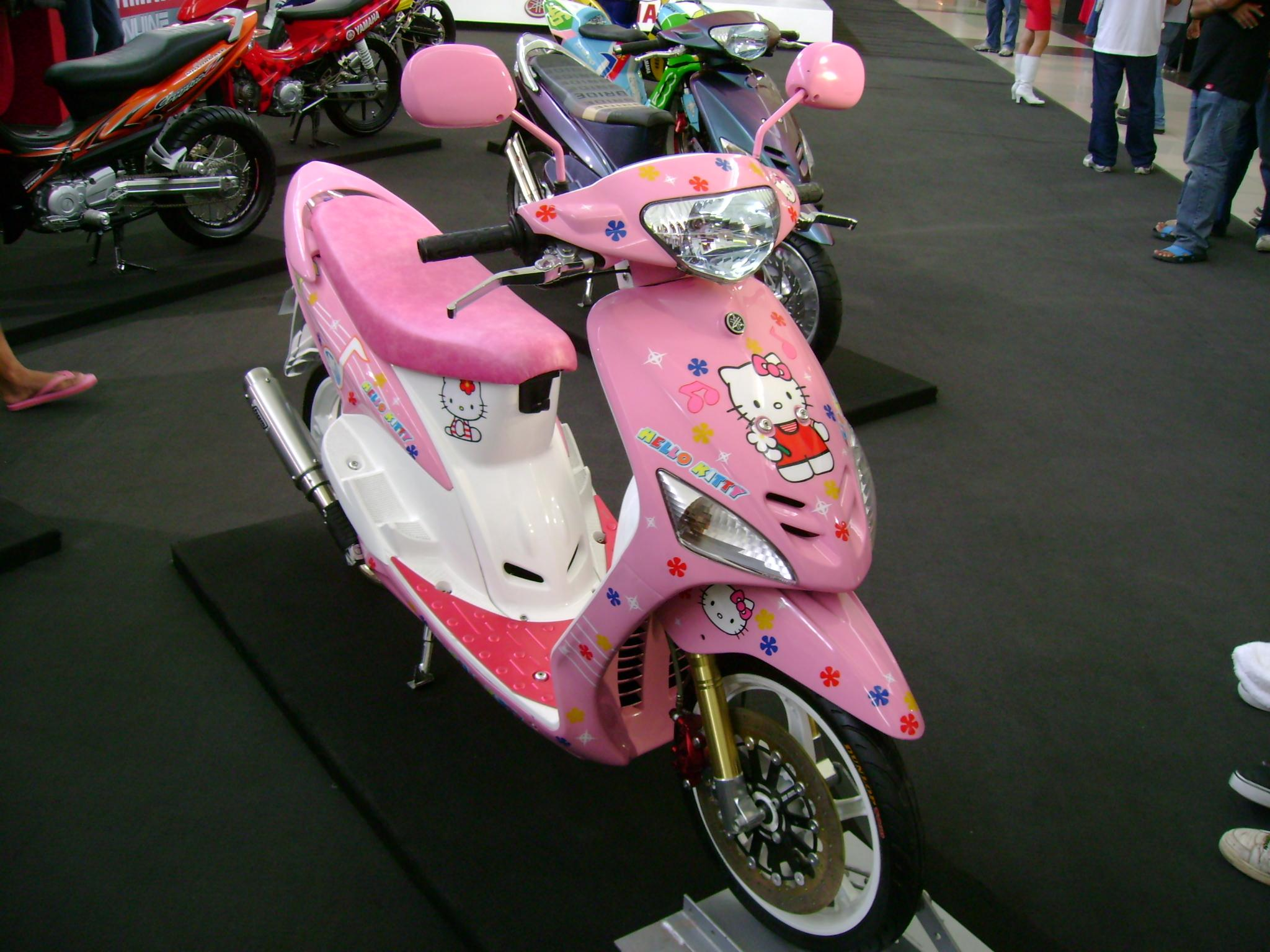 modifikasi mio sporty warna pink terkeren