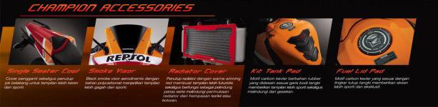 Aksesoris-Resmi-Honda-CBR150R-Lokal