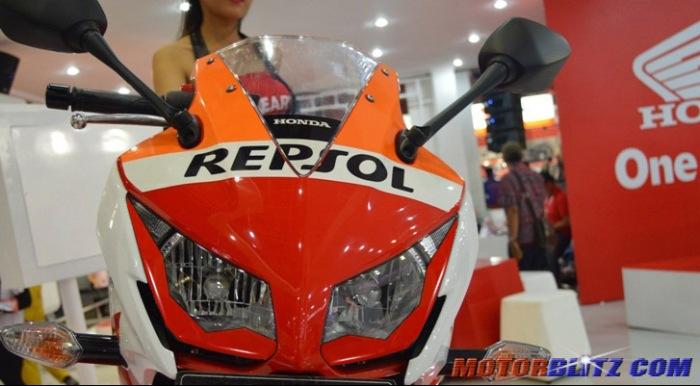 modif headlamp scotlet Honda CBR150R Lokal Repsol lampu depan Depan