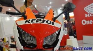 modif headlamp scotlet Honda CBR150R Lokal Repsol lampu depan