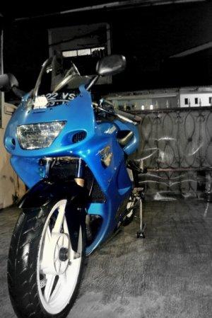ninja 150 rr biru