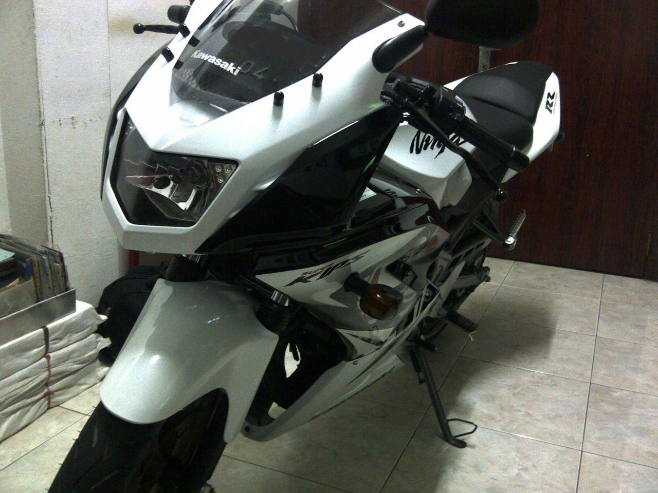 kawasaki ninja 150 rr dua tak modifikasi.   motorblitz