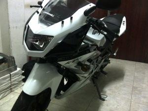 ninja 150 rr putih 1