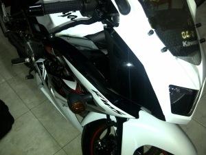 ninja 150 rr putih  3