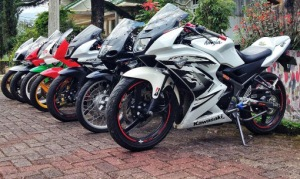 ninja 150 rr putih