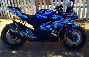 r15 striping blue