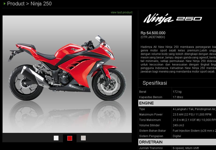 Spesifikasi Dan Harga Kawasaki Ninja 250 Ninja 250 Se Dan Z250