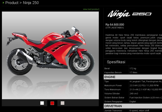 Spesifikasi Ninja 250