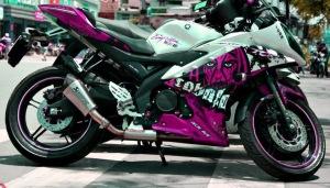 yamaha r15 striping gost pink