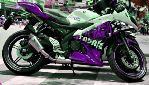 yamaha r15 striping gost purple