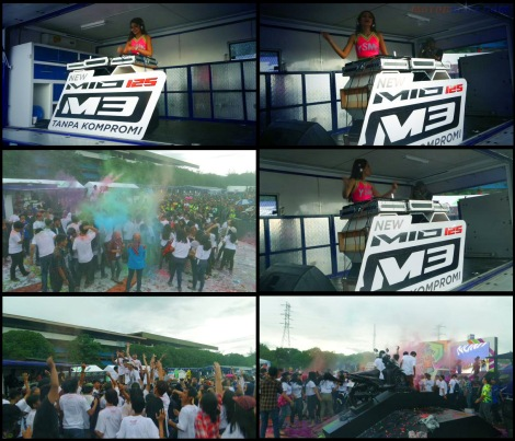dj perform launching mio m3 125 blue core sentul