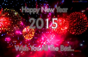 happy new year 2015 card red