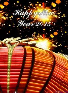 kartu ucapan tahun baru 2015 gold