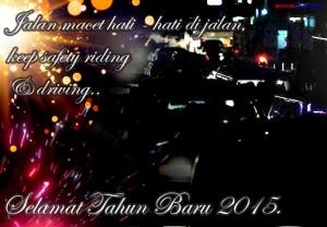 kartu ucapan tahun baru 2015 safety riding theme