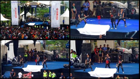 kotak band perform launching mio m3 125 blue core sentul