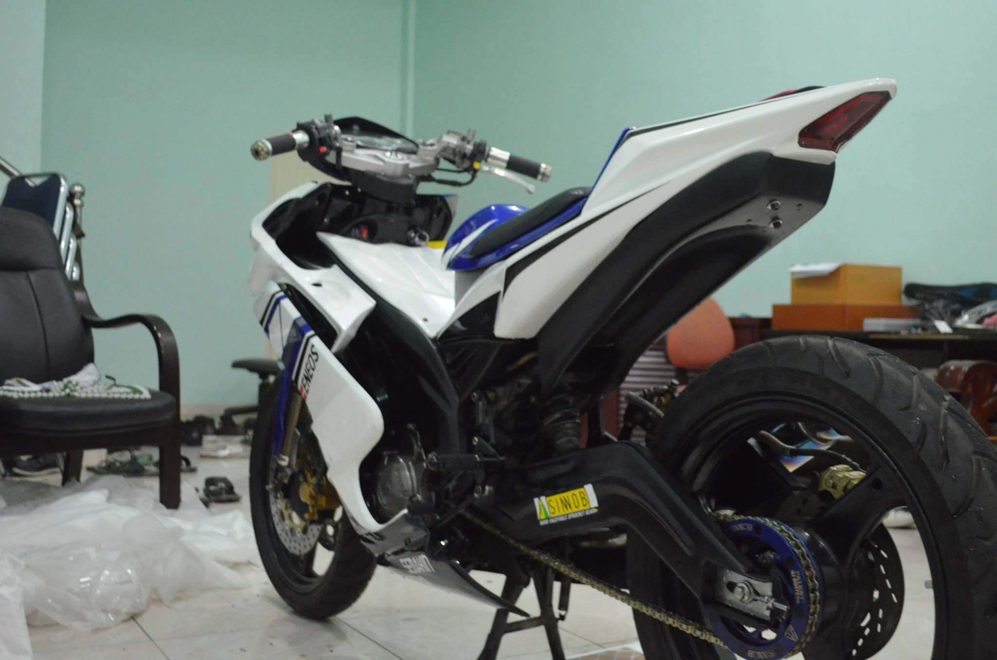 Modifikasi Yamaha Jupiter MX Dual Muffler Keren Abis MOTORBLITZ