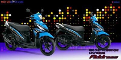 Motor Suzuki address biru muda bgt