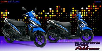 Motor Suzuki address biru muda