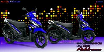 Motor Suzuki address biru