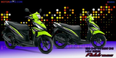 Motor Suzuki address hijau muda banget