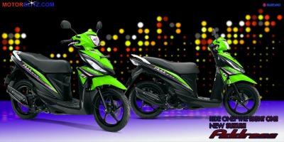 Motor Suzuki address hijau muda