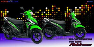 Motor Suzuki address hijau