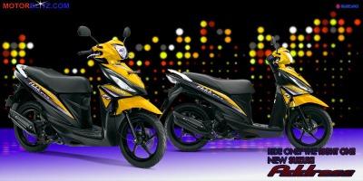 Motor Suzuki address kuning tua