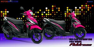 Motor Suzuki address magenta
