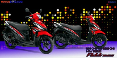 Motor Suzuki address merah jreng