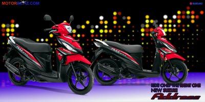 Motor Suzuki address merah