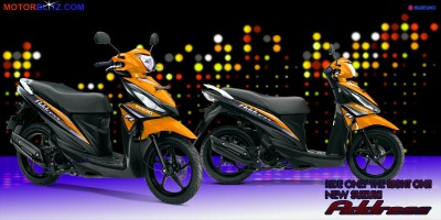 Motor Suzuki address orange mangga