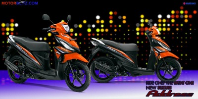 Motor Suzuki address orange