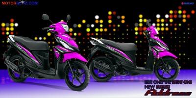Motor Suzuki address pink