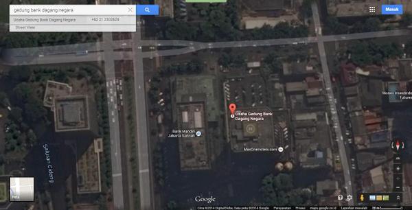 peta Jalan MH Thamrin dan Jalan Medan Merdeka Barat