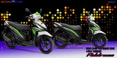 Suzuki address putih hijau daun