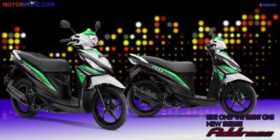 Suzuki address putih hijau gitu