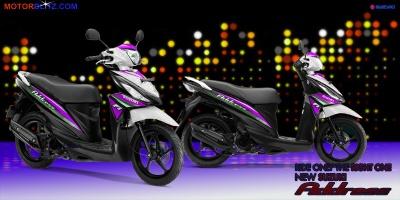 Suzuki address putih ungu muda