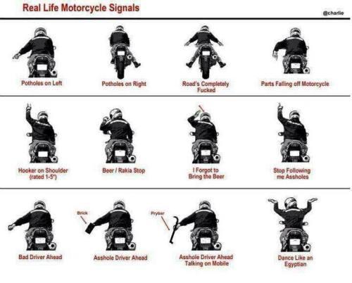 tanda isyarat club motor yang salah